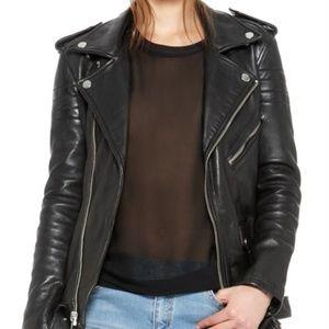 BLK DNM   Black Leather Jacket 8   Large